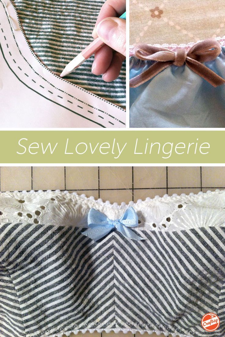 "Free 33-page sewing guide! Get ready to say ""Oo la la!"" as you enjoy in-depth photo tutorials for sewing your own elegant undergarments. Expert Christine Haynes makes it fun and easy!"