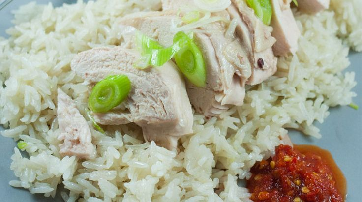 Hainanese Chicken Rice - got to be healthier than what is on offer at the hawker centres