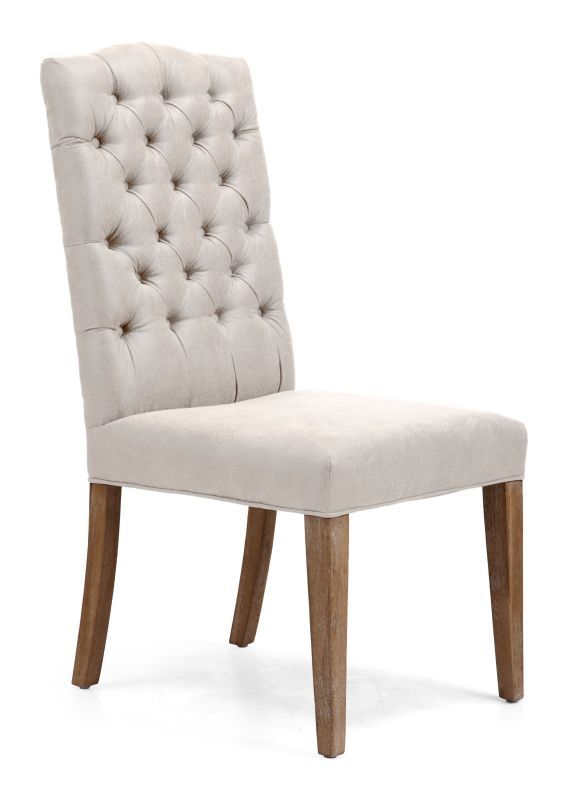 Zuo Modern Gough Dining Chair Gough Oak Dining Chair (Package of 2) Beige Furniture Seating Dining Chairs