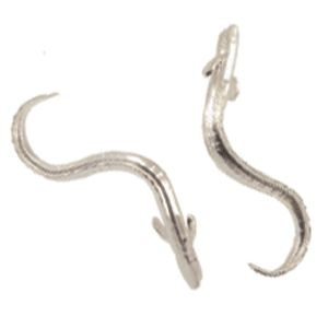 Sterling Silver Eel Cufflinks, handmade by Peter Cameron at Cameron Jewellery