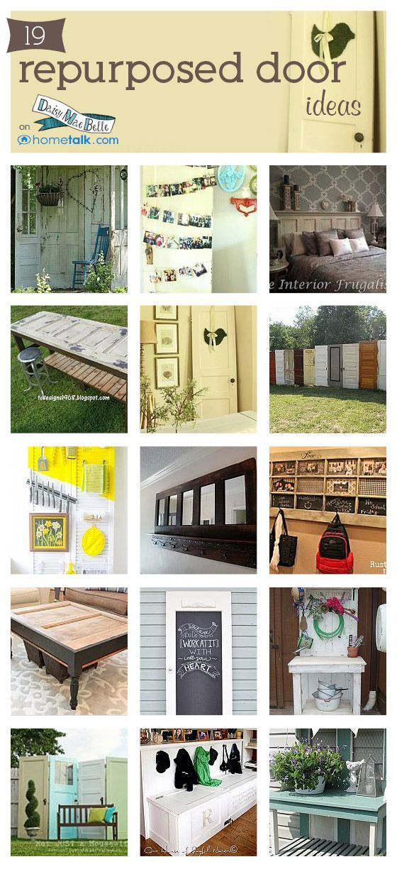 Unusual ideas for upcycling doors -- but we love em!
