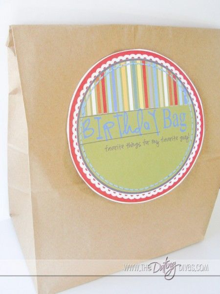 Birthday Bag!! DIY gifts for boyfriends and husbands for all occasions including just because!