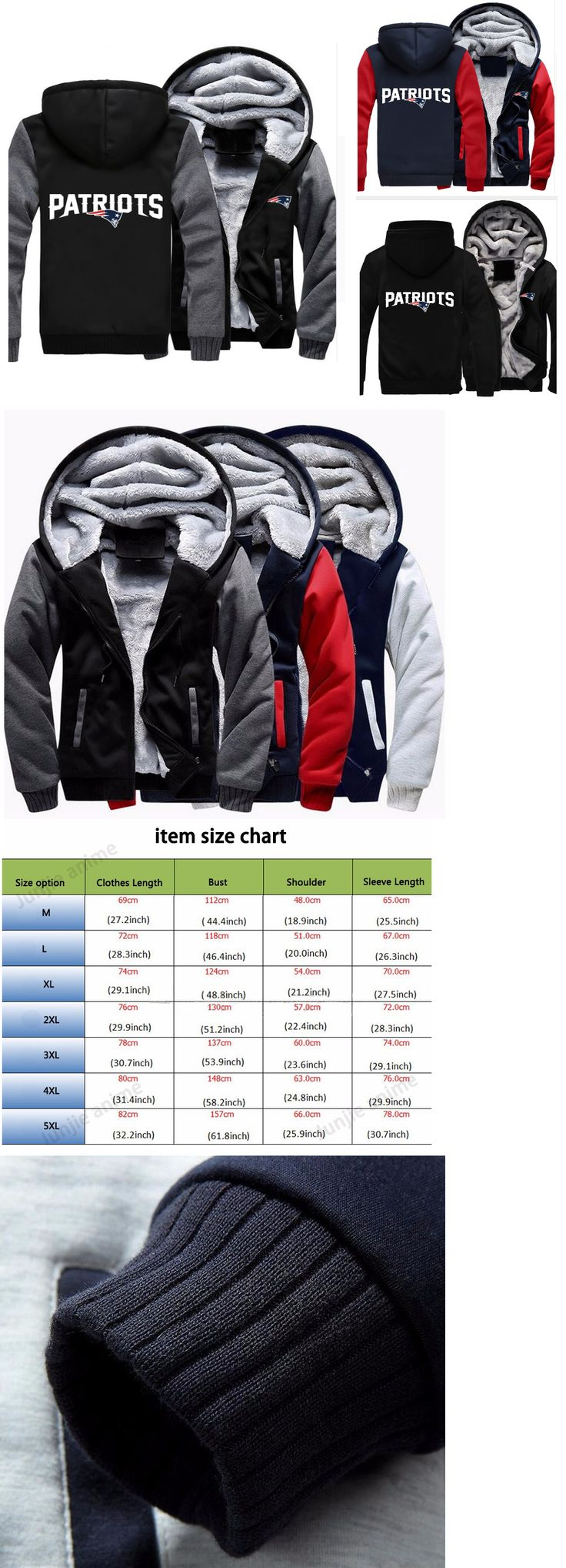 Men 159109: Winter Thicken Hoodie Team New England Patriots Champions Warm Sweatshirt Lacer -> BUY IT NOW ONLY: $54.54 on eBay!