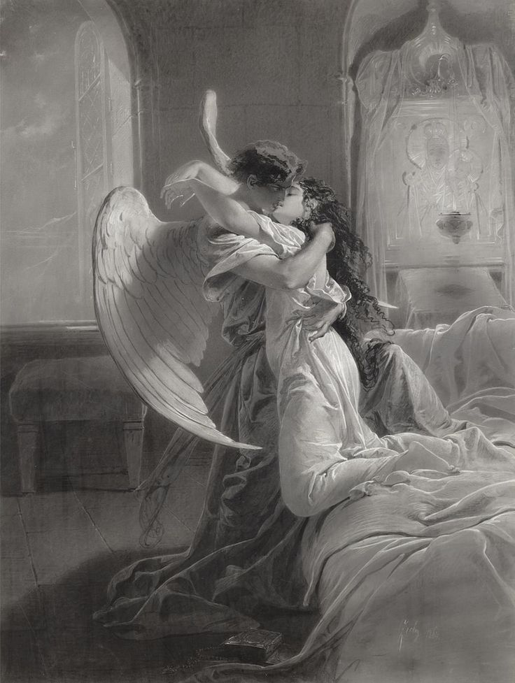 "Mihaly von Zichy (1827-1906), ""Romantic Encounter""   Now THAT'S a Spiritual Experience!"
