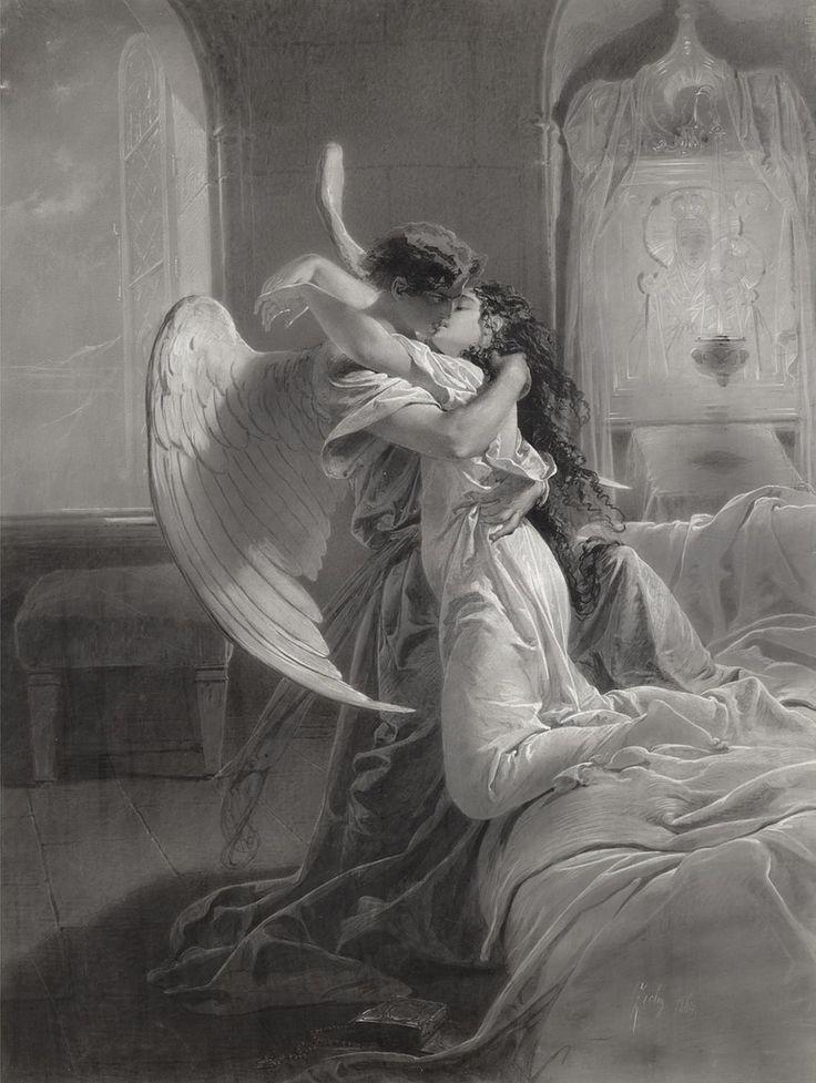 """Mihaly von Zichy (1827-1906), """"Romantic Encounter"""" (TAG: PUBLIC DOMAIN)"""