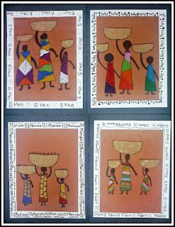 African Women and Children kids art project