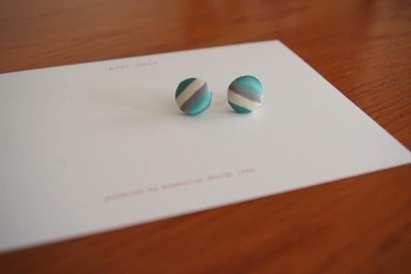 Fabric-made earrings