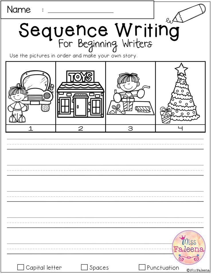 December Sequence Writing For Beginning Writers Sequence Writing Writing Activities Party Pictures
