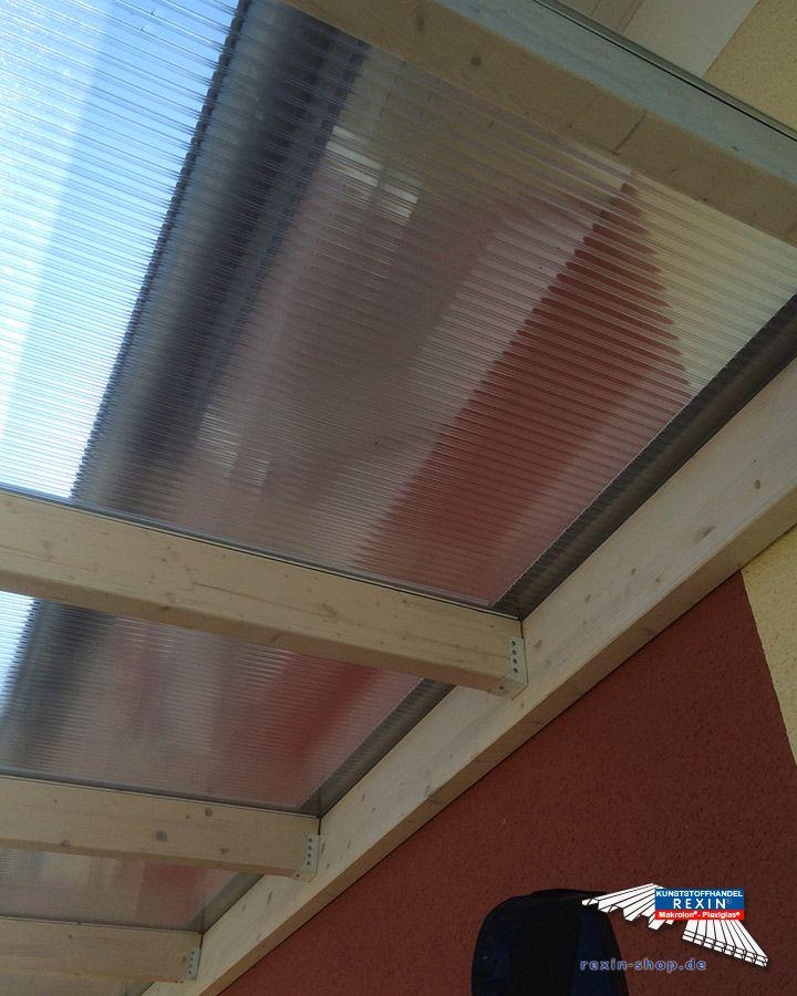 Best Ein Holz Terrassendach der Marke REXOplete m x m mit transparenten REXOclear Stegplatten