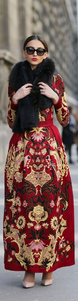 Fashion gets regal on the streets of #Paris #PFW #AW15.