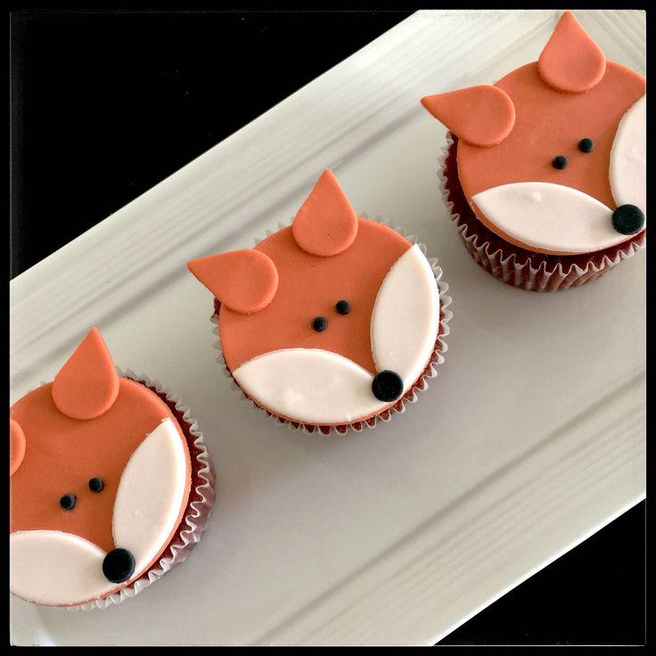 Fox   Woodland   Fondant   Cupcake
