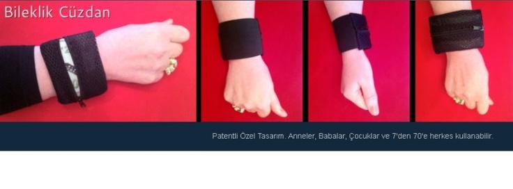 Son moda Spor Bileklik Cüzdan: Patentli Özel Tasarım. Anneler, Babalar, Çocuklar ve 7'den 70'e herkes kullanabilir.