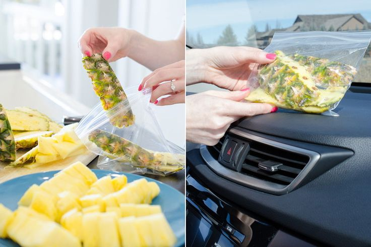 Make your car smell good with pineapple skins.