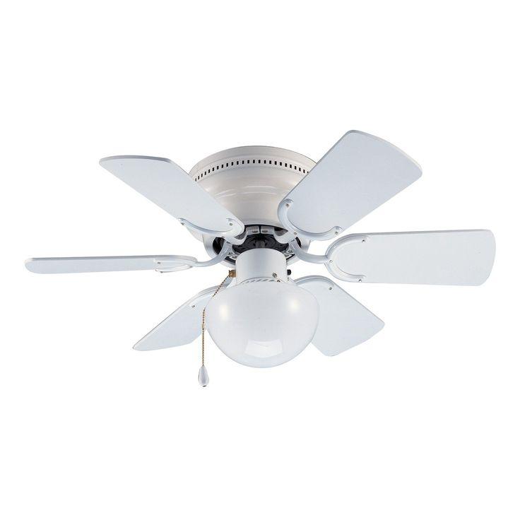 Hardware House Arcadia Flush Mount Ceiling Fan, White Or Bleached Oak