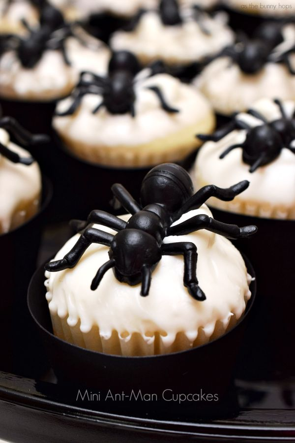 Mini Ant-Man Cupcakes are perfect for Halloween and Avengers parties! Or Halloween Avengers parties!