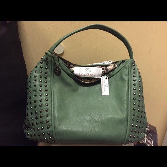 Big Buddha Bag NWT Big Buddha bag, new with tags. Gorgeous green color with studded detailing. Big Buddha Bags Hobos