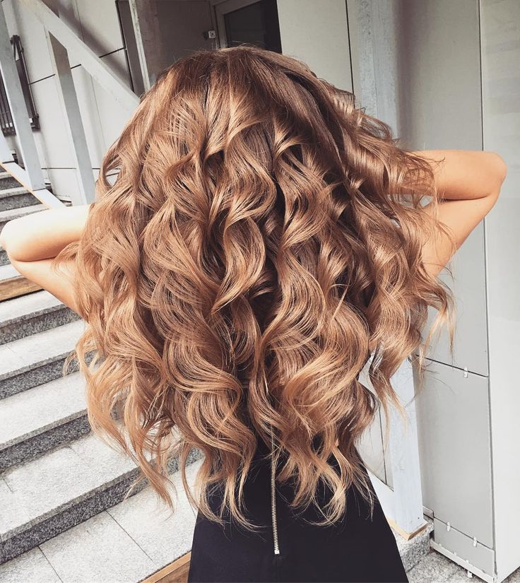 Blonde brown curls