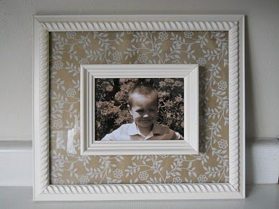 Great way to make a frame just a little bit different - great $1 store craft!
