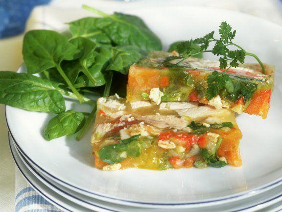 Rezept: Gemüse-Hähnchen-Sülze