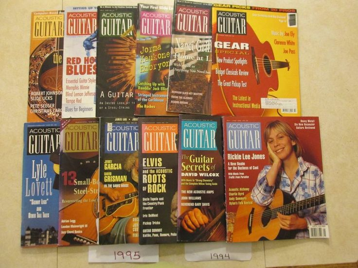 1994 1995  Acoustic Guitar Magazine 12 Issue lot