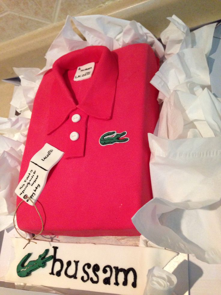 Lacoste T-shirt cake done by me