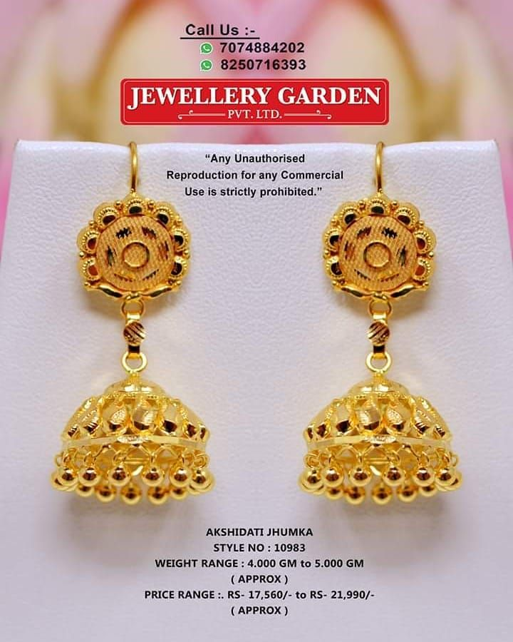 Instagram Post By Jewellery Garden Pvt Ltd Aug 30 2019 At 6 38am Utc Bridal Gold Jewellery Gold Jewelry Fashion Gold Earrings Designs