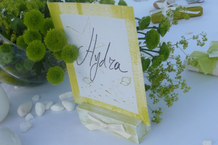 Always Inspired in Summer! Handwritten Islands for your Table Signs by Chirography! http://www.mazi-chirography.com/