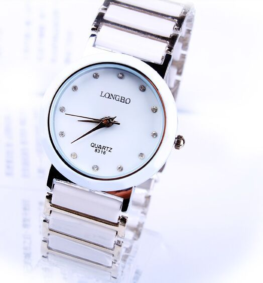 LONGBO Dress Luxury Jewelry Brand Wristwatch Fashion New Business Casual Relogio Feminino Woman Imitation Ceramic Quartz Watches