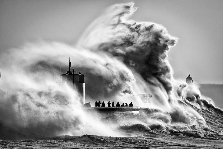 Press Association photographer Ben Birchall's stormy shot of the South Wales coast - our February Image of the Month