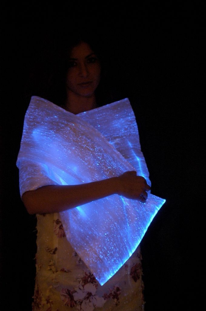 The Lumi-Shawl from Luminight USA! The USA distributor for LUMINEX(R) material. Customized to your size and liking. You get to choose the fabric color and the light color! Order 5 or more and you can make payments for up to 6 months! Go to www.LumiNightusa.com.