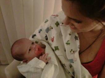 Con mi sobrinito recién nacido