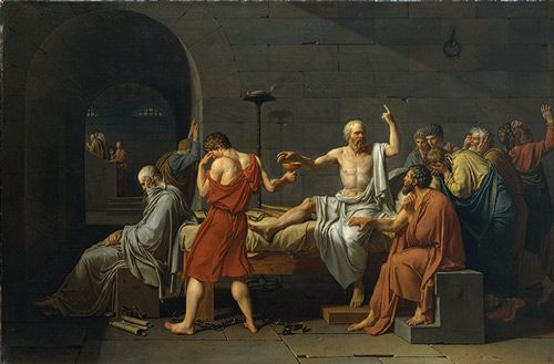 the death of socrates by jacques louis david essay The french painter jacques-louis david was a pre can philosophy and morals be transmitted through a painting his painting 'the death of socrates.