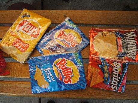 Potato chip bag pencil case tutorial.  I want to do this but with wrappers from other countries. =D