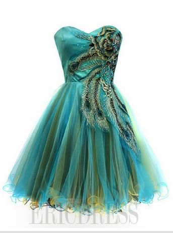 Gorgeous A-line/Princess Sweetheart Embroidery Pleats Cocktail Dress             USD $ 132.89 http://urlend.com/UZzuua3 #cocktail dresses #evening dress #ericdress