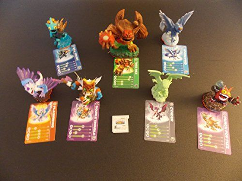 Skylanders Lot of 7 Playable Figures and Matching Cards w Scanable Codes and Stickers  Nitendo 3DS Game Cartridge -- Read more  at the image link.Note:It is affiliate link to Amazon.