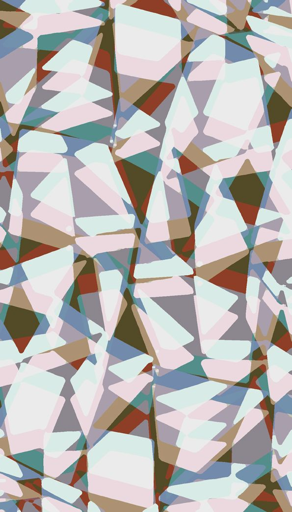 Paper collage and digital triangles. - Sarah Bagshaw