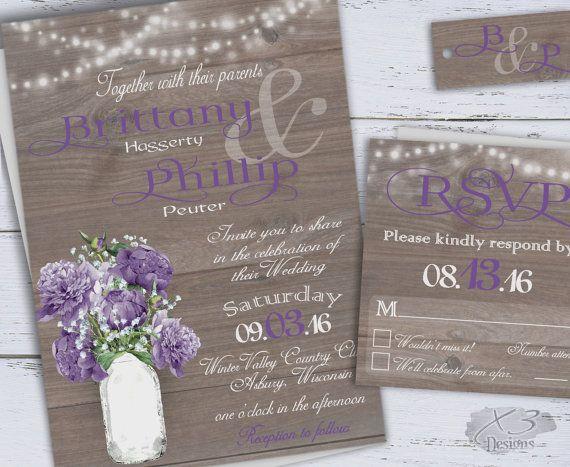 Purple Rustic Wedding Invitations: 25+ Best Ideas About Rustic Purple Wedding On Pinterest