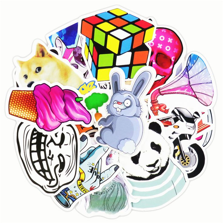 50 Pcs Stickers Mixed Funny Cartoon Jdm Doodle Decals Luggage Laptop Car Styling Skateboard DIY Home Decor Sticker kid's Toy