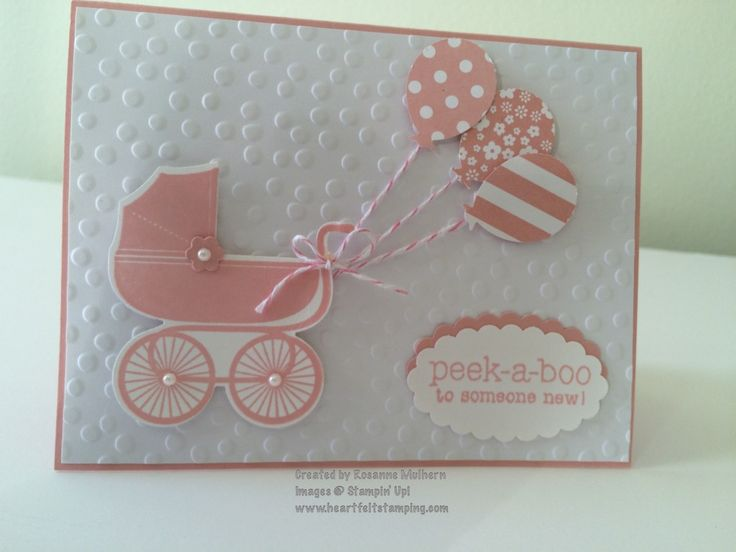 http://www.heartfeltstamping.com/baby-buggy-balloons  Stampin' Up!  Something For Baby