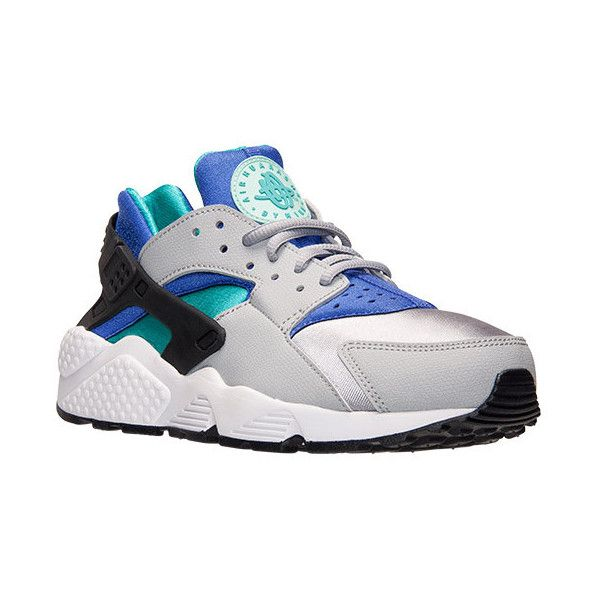 Women's Nike Air Huarache Running Shoes ($100) ❤ liked on Polyvore featuring shoes, athletic shoes, sneakers, nike, shoes., leather running shoes, native american shoes, leather shoes and nike footwear