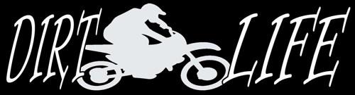 Dirt Life Decal - Dirtbike Motorcross Racing Motorcycle | LilBitOLove - Housewares on ArtFire
