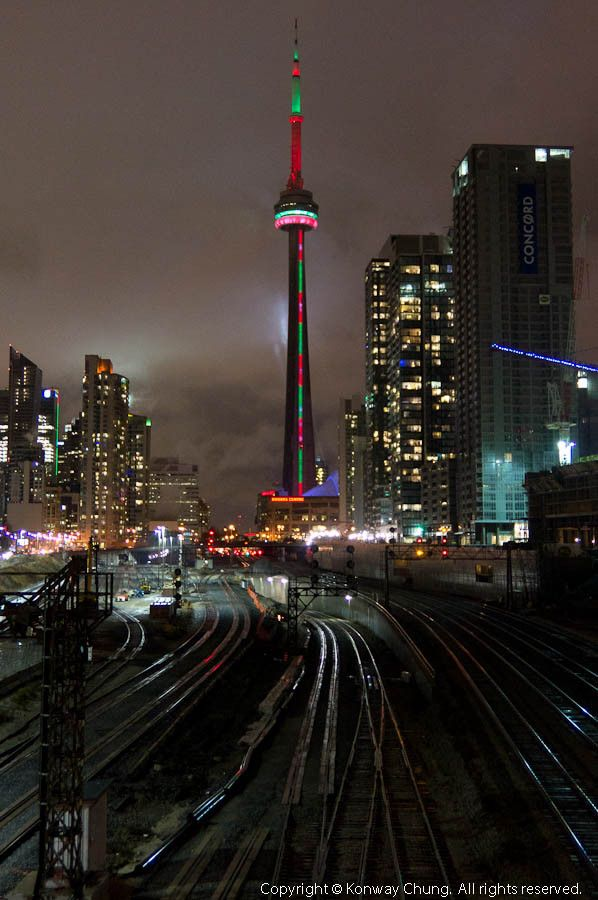 Largest Christmas Tree in the World  - Toronto's CN Tower