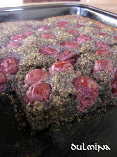 Meggyes-mákos süti