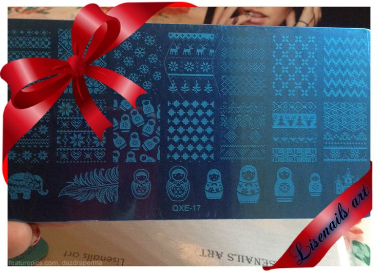 Stamping plate christmas