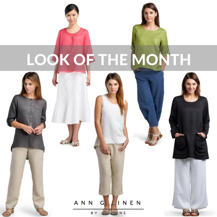 Essential linen scooped neck top for all season. ANN G LINEN - Look Of The Month