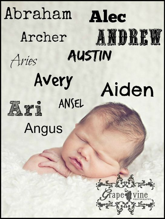 Looking for a fabulous baby name for a baby boy?  These names start with the letter A.