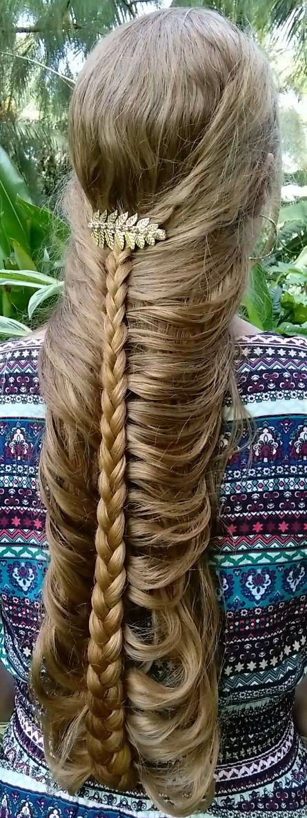 Romantic mermaid braid