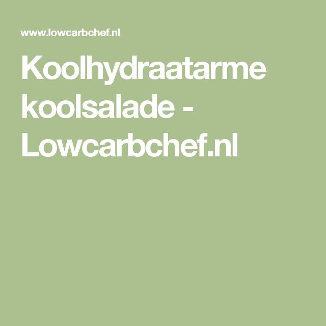 Koolhydraatarme koolsalade - Lowcarbchef.nl