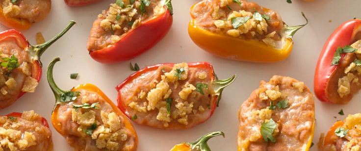These mini sweet peppers are the perfect bite-size appetizer! If desired, serve with guacamole or salsa for dipping.