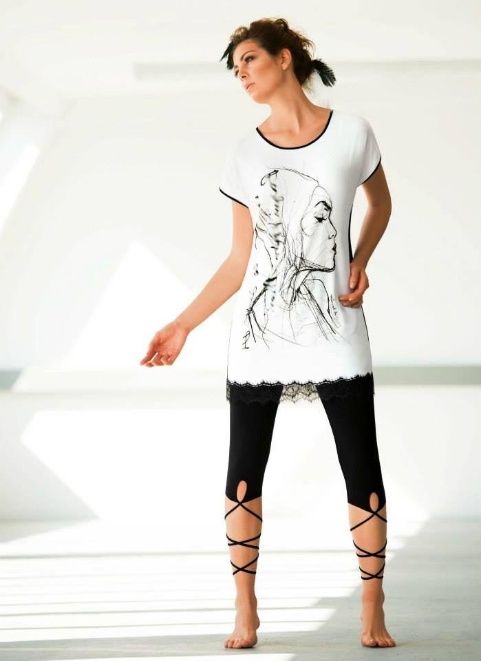 CYBÈLE Paolo Galetto 2015 | Volnočasové prádlo | Triko | Legíny | Loungewear | T-shirt | Leggings | www.naturana-plavky-pradlo.cz